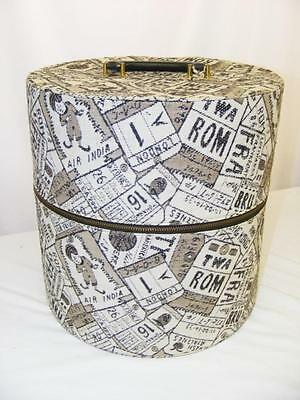 Carry All by Munro Vintage Hat Box Travel Luggage