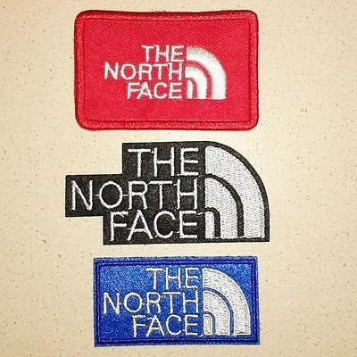 3 x THE NORTH FACE IRON ON EMBROIDERED PATCHES VEST BESTICKT FABRIC JACKET