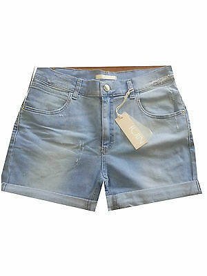 NIOI short woman denim clear with breakages 98%2 cotton% elastane MADE IN ITALY