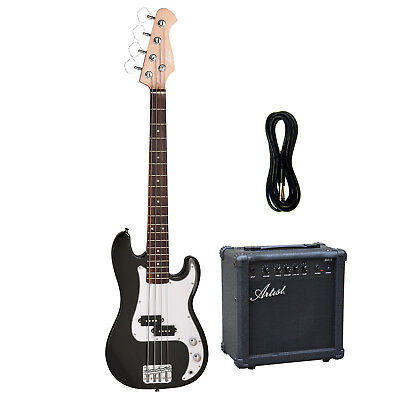 Artist MiniP 3/4 Size PB Style Electric Bass Guitar with Amp - New