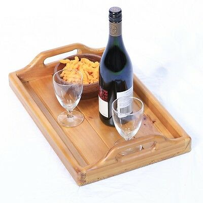 Serving Tray - Wooden - with Carry Handles