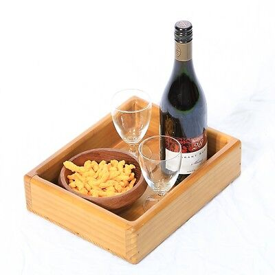 Serving Tray - Wooden - with Raised Sides