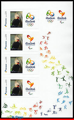 16-03R Brazil 2016 Olympic & Paralympic Games, Rio 2016, Right Sheet Perso Mnh