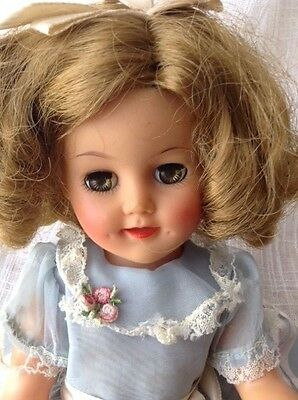 """Vintage SHIRLEY TEMPLE DOLL Ideal ST-15-N 15"""" All Original"""