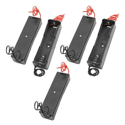 5Pcs Black Plastic 1x 18650 Type Rechargeable Battery Holder Storage Box Case