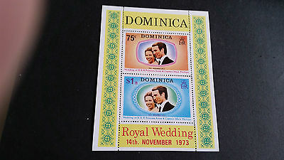 Dominica 1973 Sg Ms396 Royal Wedding. Mnh