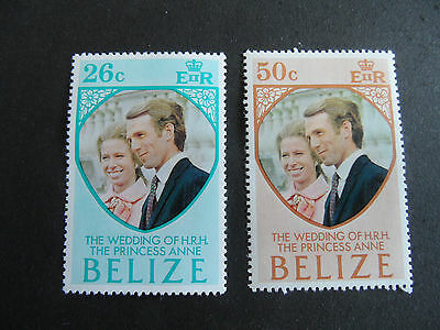 Belize 1973 Sg 360-361 Royal Wedding Mnh