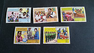 Lesotho 1974 Sg 250-254 Youth Ad Development  Mnh