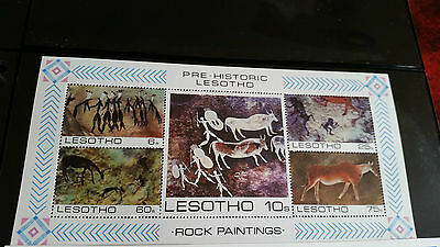 Lesotho 1983 Sg Ms544 Rock Paintings  Mnh