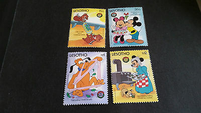 Lesotho 1986 Sg 745-748 Christmas,walt Disney Cartoons Mnh