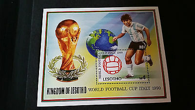 Lesotho 1989 Sg Ms946 World Cup Football Mnh