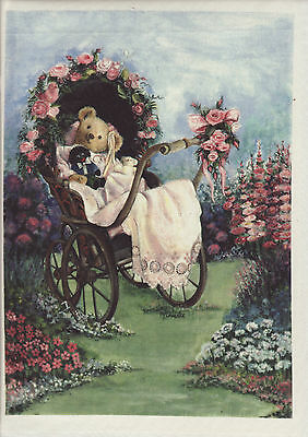 SILK PRINT KIT - 'Rose Carriage' - for embroidery embellishment