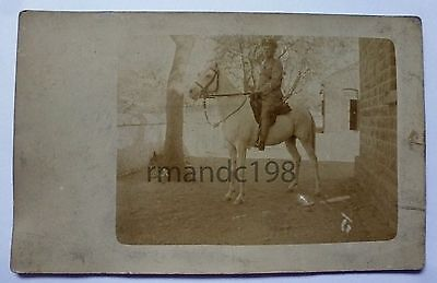 Postcard Of Unknown Soldier Mounted On A Horse Probably King's Regiment