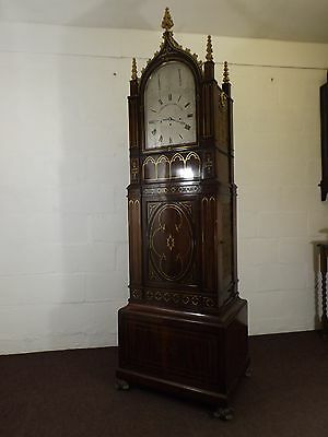 Bracket clock- Fusee Musical Clock with 8 bells and Barrel Organ