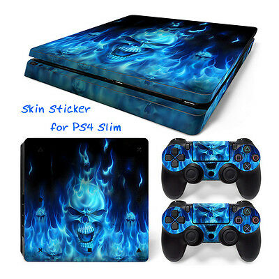 UK 136# Body Sticker Decal Skin For Playstation 4 PS4 Slim Console+Controllers
