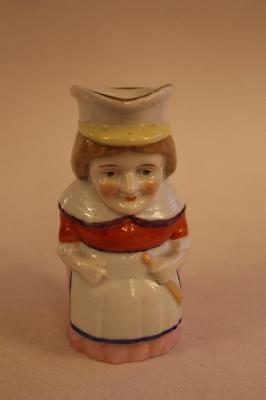 Victorian Porcelain Judy From Punch & Judy Toby Jug Crown N Mark