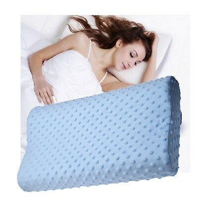 Memory Foam Slow Rebound Breathable Orthopedic Latex Neck Pillow Removable Cover