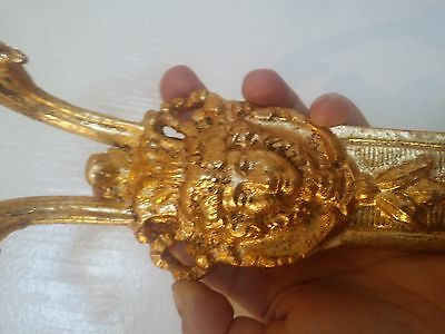 Antique French Bronze Gild Ormolu Woman Wall Sconce Pediment Salvage Repurpose
