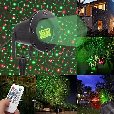 Outdoor Laser Projector Xmas DJ Party Starry Stage Light Landscape Garden Lamp