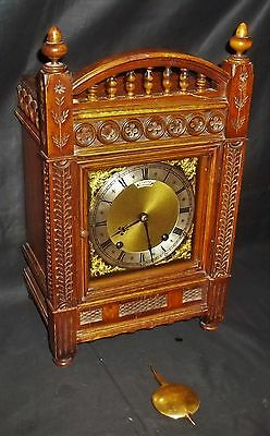 Very Nice German Gothic Bracket Clock By Winterhalder & Hofmeier