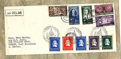 SOUTH AFRICA - NETHERLANDS 1952 Van Riebeeck STAMPS Cover / Envelope