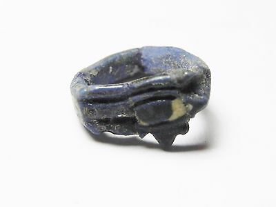 Zurqieh -Cy117-  Ancient Egypt. Time Of King Tut Faience Ring. Eye Of Horus