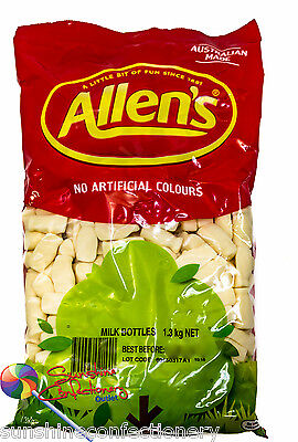 Allen's Milk Bottles  - 2 X 1.3KG (2.6kg)-Allens Bulk Lollies, Candy Bar Favours