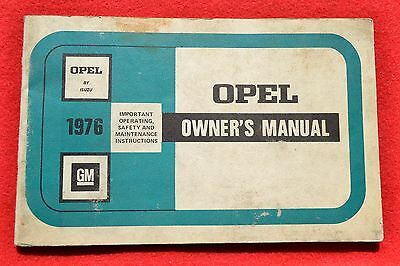 1976 Opel Isuzu ORIGINAL Owner's Manual GM