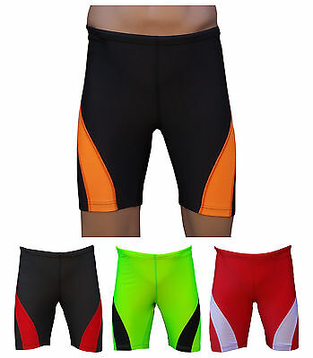 ACCLAIM Fitness Mens Red Grey Compression Running Fitness Training Lycra Shorts