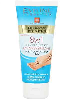 Eveline Cosmetics Foot Therapy Professional 8In1 Cream Deodorant Anti-Perspirant