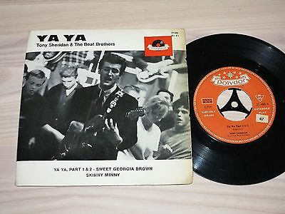 "TONY SHERIDAN 7"" EP SINGLE - YA YA, PART 1 & 2 / 4 TRACK GERMAN POLYDOR in VG+"