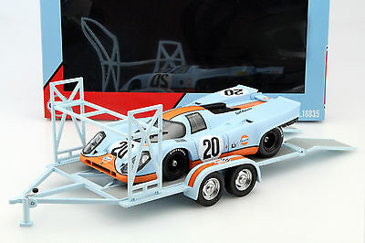 Trailers Gulf Painted for model cars scale 1:18 GMP