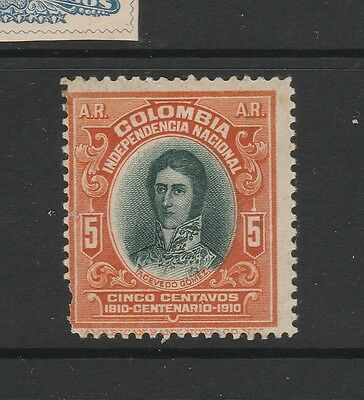 A2P58 COLOMBIA ACKNOWLEDGMENT OF RECEIPT STAMP 1910 5c MNH**