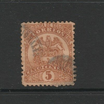 A2P59 COLOMBIA 1892-99 5c USED