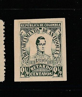 A2P59 COLOMBIA ANTIOQUIA LATE FEE STAMP 1899 IMPERF. 2 1/2c MH*
