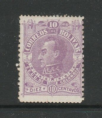 A2P59 COLOMBIA BOLIVAR 1882 10c MH*