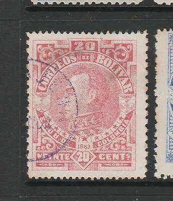 A2P59 COLOMBIA BOLIVAR 1883 20c USED