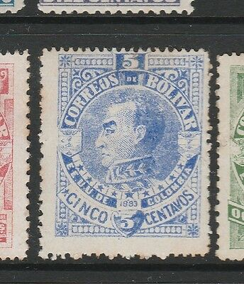 A2P59 COLOMBIA BOLIVAR 1883 5c MH*