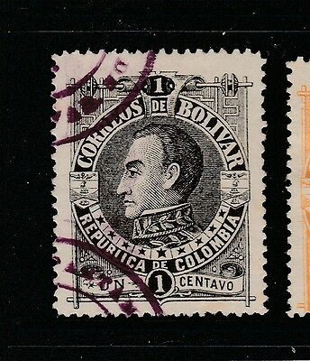 A2P59 COLOMBIA BOLIVAR 1891 1c USED