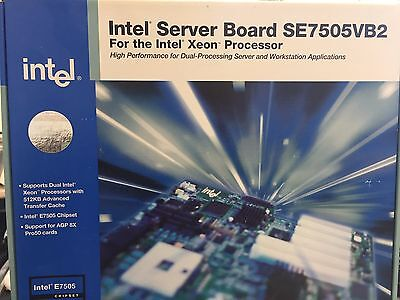 Intel Server Board Se7505Vb2 New In Sealed Box