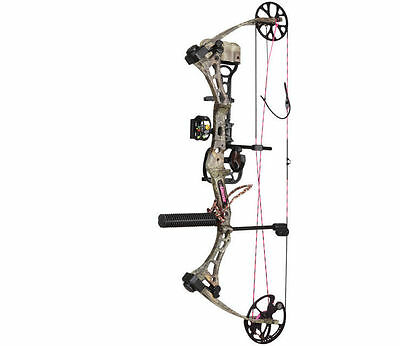 New 2016 Bear Archery Finesse 50# RH Womens Max-1 Camo RTH Bow Package