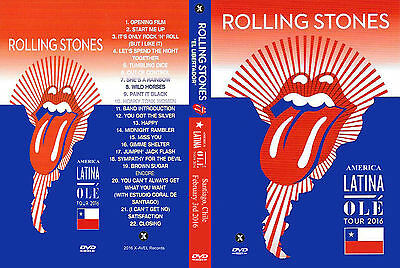 The Rolling Stones. 2016. Chile. America Latina Tour. 2 Dvd.