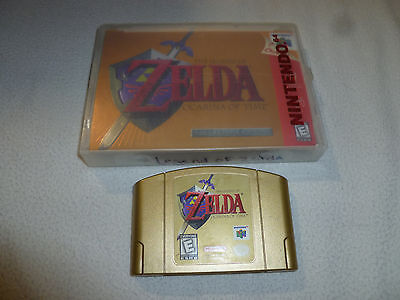Nintendo 64 N64 Legend Of Zelda Ocarina Of Time Game Gold Cartridge & Manual Lot