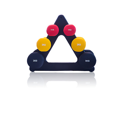 Ladies 12kg Dumbbell WeightTraining Home Gym Fitness Exercise Workout Stand Set