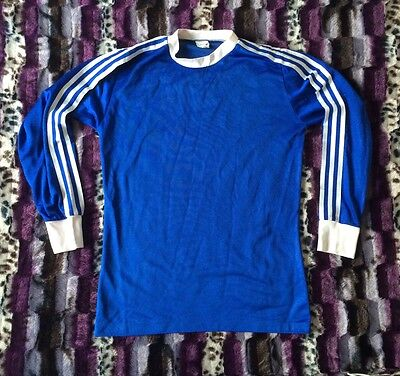 *RARE* Vtg Adidas T-Shirt Top  Football Ringer Retro Firebird Tracksuit 80s 90s