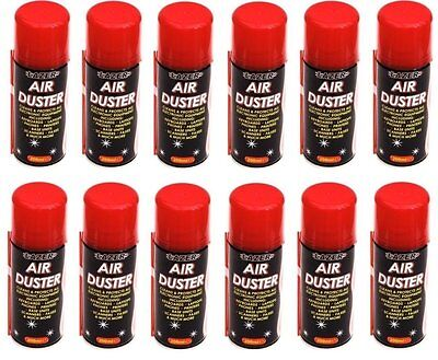12 x 200ML COMPRESSED AIR DUSTER SPRAY CAN CLEANER CLEAN & PROTECTS ELECTRONICs