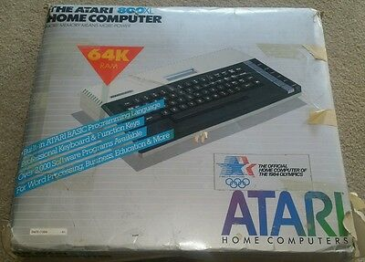 VINTAGE 1983 ATARI 800XL Home Computer System in Box - Powers Up
