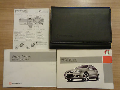 Vauxhall Corsa & Combo Owners Handbook/Manual and Wallet 04-06