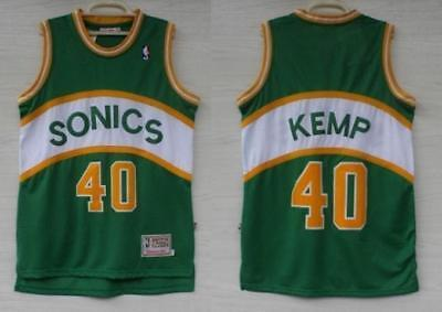 NEW Seattle Super sonics Shawn Kemp #40 Jersey Throwback Classics Hardwood S-XXL