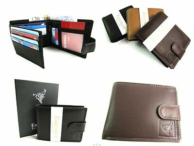 Premium Quality Real Soft Leather RFID Protected Wallet Credit Card Holder Boxed